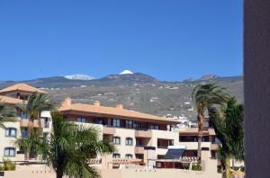 terras: zicht op de Teide